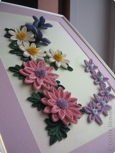 Painting mural drawing flowers Paper Quilling Just band photo 2