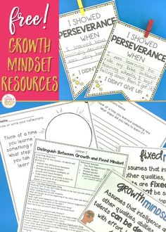 Free growth mindset lesson and activities - Start fostering a growth mindset culture with your elementary students! This resource includes an explicit, research based lesson and  activities to help your students distinguish between growth and fixed mindsets.  #growthmindset  #growthmindsetactivities