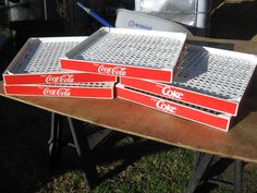Vintage Coca Cola Store Display Rack Shelves 5 pieces #CocaCola