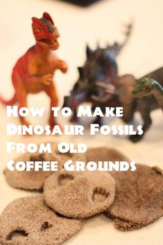 How to make dinosaur fossils from left over coffee grounds #dinosaur