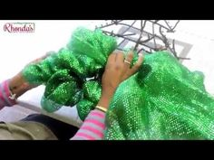 HOW TO MAKE A DECO MESH CHRISTMAS TREE USING WALMART AND DOLLAR TREE MATERIALS - YouTube