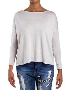 PINKO - Maxi maglia BRATISLAVA con dettagli oro - Bianco - Elsa-boutique.it <3 #Pinko