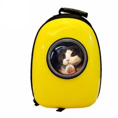 Lovoyager VB16615 Outdoor Travel Air Space Bubble Pet Carrier Bag Breathable Portable Dog Cat Backpack - Yellow One Szie Mobile