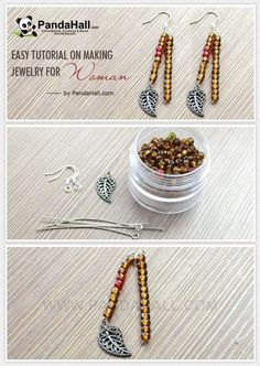 Jewelry Making Tutorial--DIY Free Seed Beads Earring Patterns | PandaHall Beads Jewelry Blog