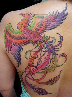 Significado tatuagem Fenix [Fenix tattoo meaning] ~ Arquivo TaTToo Back Tattoo Women, Back Tattoos, Body Art Tattoos, Tribal Tattoos, Girl Tattoos, Tattoos For Women, Rising Phoenix Tattoo, Phoenix Bird Tattoos, Phoenix Tattoo Design