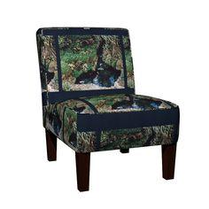 Maran Slipper Chair featuring KRLGParadiseGardenPillowLARGE by karenspix | Roostery Home Decor