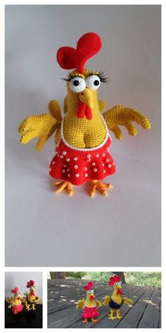 Amigurumi Chicken Free Pattern – Free Amigurumi Patterns – The Best Ideas Crochet Amigurumi Free Patterns, Crochet Animal Patterns, Stuffed Animal Patterns, Free Crochet, Crochet Animals, Chicken Pattern, Crochet Chicken, Softie Pattern, Easter Crochet