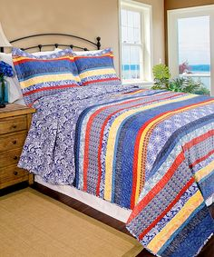 Look at this Blue Escapade Quilt Set on #zulily today!