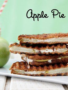 Apple Pie Panini from The Ultimate Panini Press Cookbook by Kathy Strahs in Weelicious.com