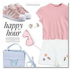 """""""Bottoms Up: Happy Hour"""" by svijetlana ❤ liked on Polyvore featuring Coccinelle, adidas Originals, Rachel, happyhour and zaful"""