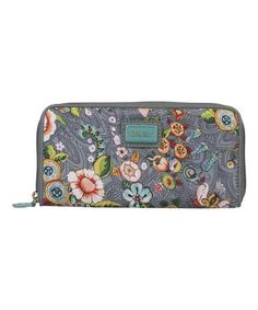 Look at this #zulilyfind! Gray French Flowers Travel Wallet by Oilily #zulilyfinds