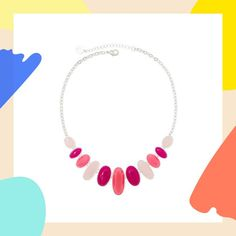 Dazzle mom with a pink oval multi-stone collar necklace this Mother's Day. #partner