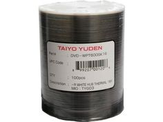 100 JVC Taiyo Yuden 16X DVD-R 4.7GB White Thermal Printable by Taiyo Yuden. $40.49. JVC Taiyo Yuden 16X DVD-R disks provide exceptional quality for general use and feature white surface configurations. The extraordinarily versatile 16X DVD-R media can be used with the new higher-speed DVD writers from Sony Pioneer and other leading manufacturers. Top-Notch Performance Reliability and Archival Life!JVC Taiyo Yuden 16X DVD-R disks offer 4.7GB of write-once storage cap...