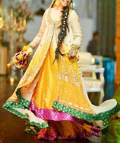 Mehndi Dresses for Brides 2015