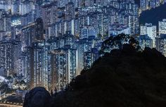 Inch Print - High quality print (other products available) - Silhouette of mountain over illuminated Hong Kong - Image supplied by Fine Art Storehouse - Photo Print made in the USA City Lights At Night, Fine Art Prints, Canvas Prints, Travel Photographer, Poster Size Prints, Photo Mugs, Hong Kong, Funny Pictures, Paisajes