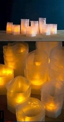 DIY WAX PAPER CANDLE HOLDERS IDEAS