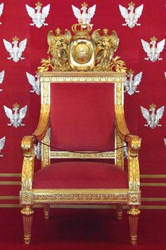 Throne of Polish King Stanisław II Augustus at Warsaw Royal Castle. Reign: 25 November 1764 to 7 January 1795. Son of Stanisław Poniatowski and Konstancja Czartoryska Forced to abdicate when the Polish-Lithuanian Commonwealth (the Polish Republic since May 3, 1791) ceased to exist.