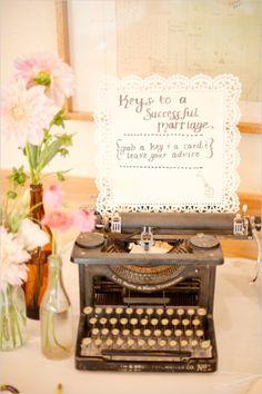 typewriter guestbook ideas