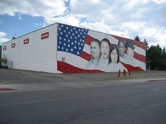 Mural on a building in a small town