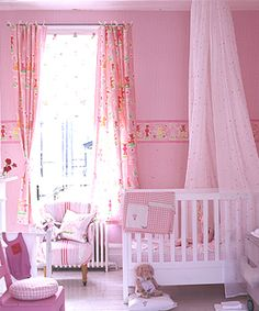 Pink and lovable - one way to make your baby girl's room look pretty!