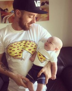 Pizza Slice Dad Son Matching Shirts Family Outfits Whole Pizza 1 Slice Missing Daddy Daughter Dad and Baby shirts Family Outfits Pizza Shirt items included : 1 Adult T shirt & 1 Baby Bodysuit or Kids T shirt*** Father Daughter Matching Shirts Baby Papa, Mama Baby, Baby Boys, Kids Boys, Matching Family Outfits, Matching Shirts, Matching Clothes, Daddy, Kids And Parenting