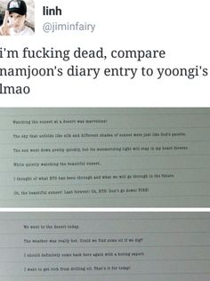 The difference between namjoon and yoongi lmao