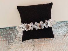 Vintage Glass Button Bracelet|Vintage Prism Cut Glass Buttons|Firefly NC by FireflyNC on Etsy