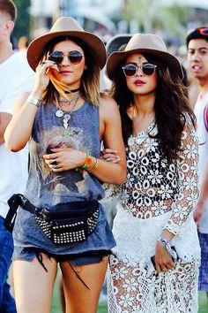 Selena and Kylie at Coachella