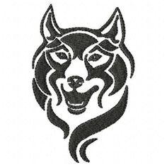 Wild Wolf Machine Embroidery Design Single