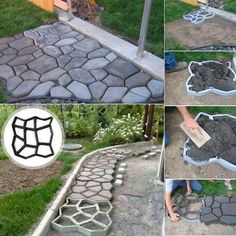Description:Get creative with these Easy DIY Pavement Molds and design your own backyard landscaping! Transform your garden and design in your own style with the colors you like! Main Features:Durable and reusable PP plastic mold, clean... #Landscaping