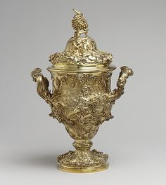 Loving cup with cover Paul de Lamerie  (English, 1688–1751, active 1712–51) Date: 1742–43 Culture: British, London Medium: Silver gilt