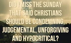 timeline photos hypocritical christians | did I miss the Sunday that said Christians should be condemning ...