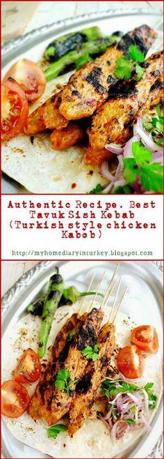 Tavuk Kebabı /  Best Chicken sish Kebab recipe. This delicious chicken kebab was inspired by famed Adana kebab. But I made it from chicken instead of lamb/ beef. But be sure this would be your new favorite list. #turkishfood #kebab #tavukkebabi #chickenkabob #grilledrecipe #flatbread #resepayam #khasturki #kebabrecipes