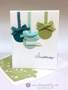 Endless Wishes - #SUO, #CAS, #maryfish, #stampinup, #bigshot, #holiday, #christmas, #ornament, #framelits, #diy, #handmadecard