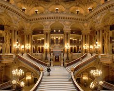 The Palais Garnier is a 1,979-seat opera house, which was built from 1861 to 1875 for the Paris Opera. Highlights include the Grand Staircase and horseshoe-shaped, gilded auditorium with red velvet seats, a massive chandelier and Chagall's gorgeous ceiling mural.