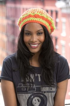 Bedford Beret - Crochet this bright and colorful beret made in Vanna's Choice® to keep your spirits up when skies are gray. Level: Easy+