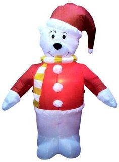 4 Ft. - Gemmy Christmas Airblown Inflatable - Jolly Polar Bear by Gemmy. $39.95. Show off your Holiday Spirit with this polar bear santa claus inflatable!