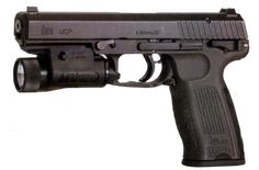 """H&K UCP    The """"Universal Combat Pistol"""" was a H&K's answer to the FN Five-Seven pistol. Using the same 4.6x30mm cartridge as the MP7, it had a 20 round capacity magazine and a control setup similar to the P2000. The UCP was eventually abandoned during the prototyping stages even though supposed test trials had happened."""