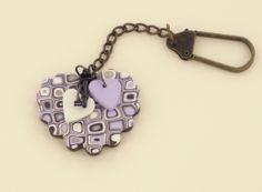 Sculpey III Magic Cane Key Chain