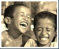 Boys laughing