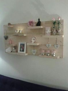 Bord steigerhout on pinterest van met and wood shelves - Decoratie schilderij gang ...