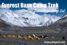 Ultimate Female Packing List for the Everest Base Camp Trek