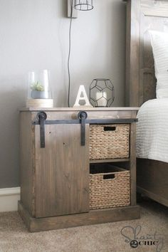 Sliding Barn Door Nightstand - DIY - Shanty 2 Chic