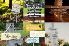 decoration mariage pancarte bois fleche panneau bois