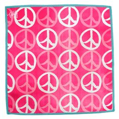 """Show the world your gentle, peace-loving nature with this cleaning cloth. Peace, love, and pink-what more do you need in life? Power clean your screen with a slice of Toddy love. Complete the set with The Wedge™ Mobile Device Stand and the Smart Cloth 5""""x7""""."""