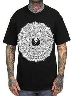 "Men's ""Mandala"" Tee by Sullen Clothing (Black)"