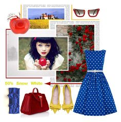 """""""50's Snow White"""" by fan-addx ❤ liked on Polyvore featuring art"""