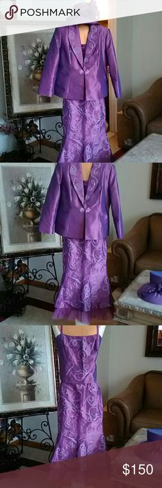 Tango Nights 4 PC plum suit 3pc suit with shell, jkt and skirt  Hat with rhinestones  Embroidery on all pieces Tango nights  Skirts Skirt Sets