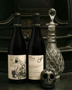 Burn Cottage label from Mash Design - The best wine label designers out there. Down under or up over.