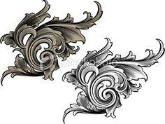 Scroll Arabesque Royalty Free Stock Vector Art Illustration